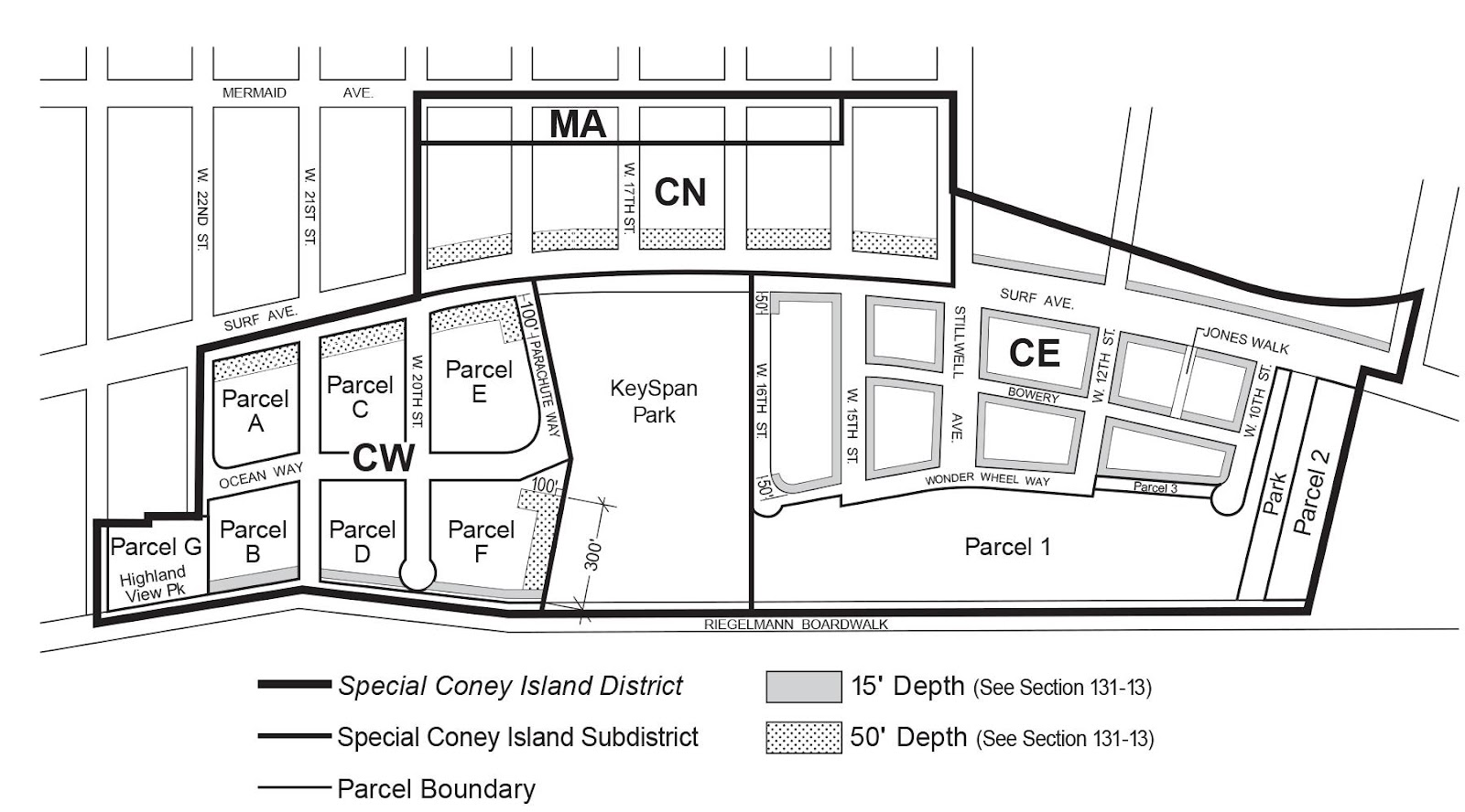 Zoning Resolutions Chapter 1: Special Coney Island District Appendix A.1