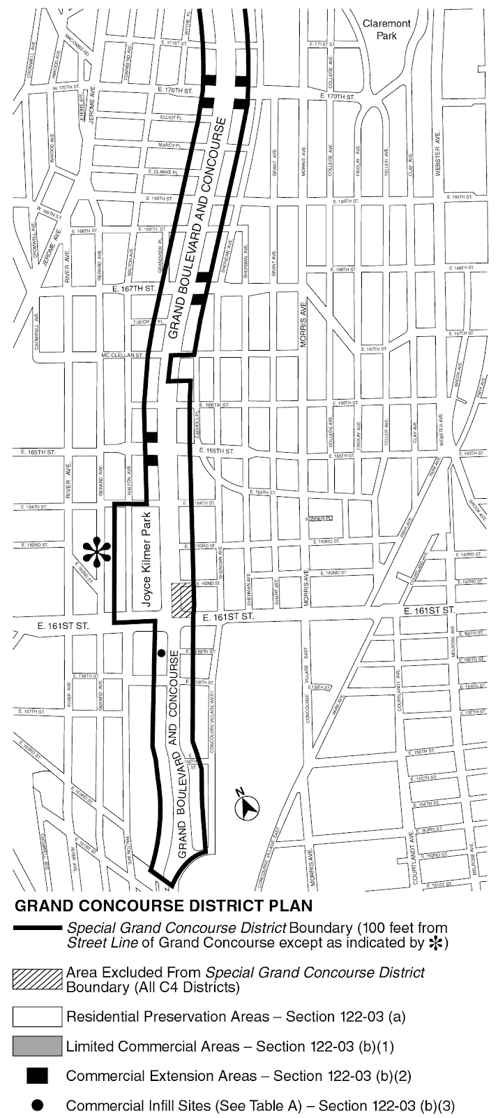 Zoning Resolutions Chapter 2: Special Grand Concourse Preservation District Appendix A.2