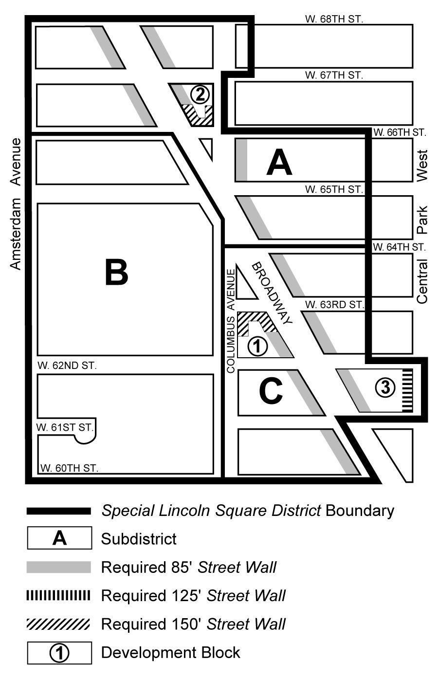 Zoning Resolutions Chapter 2: Special Lincoln Square District Appendix A.0