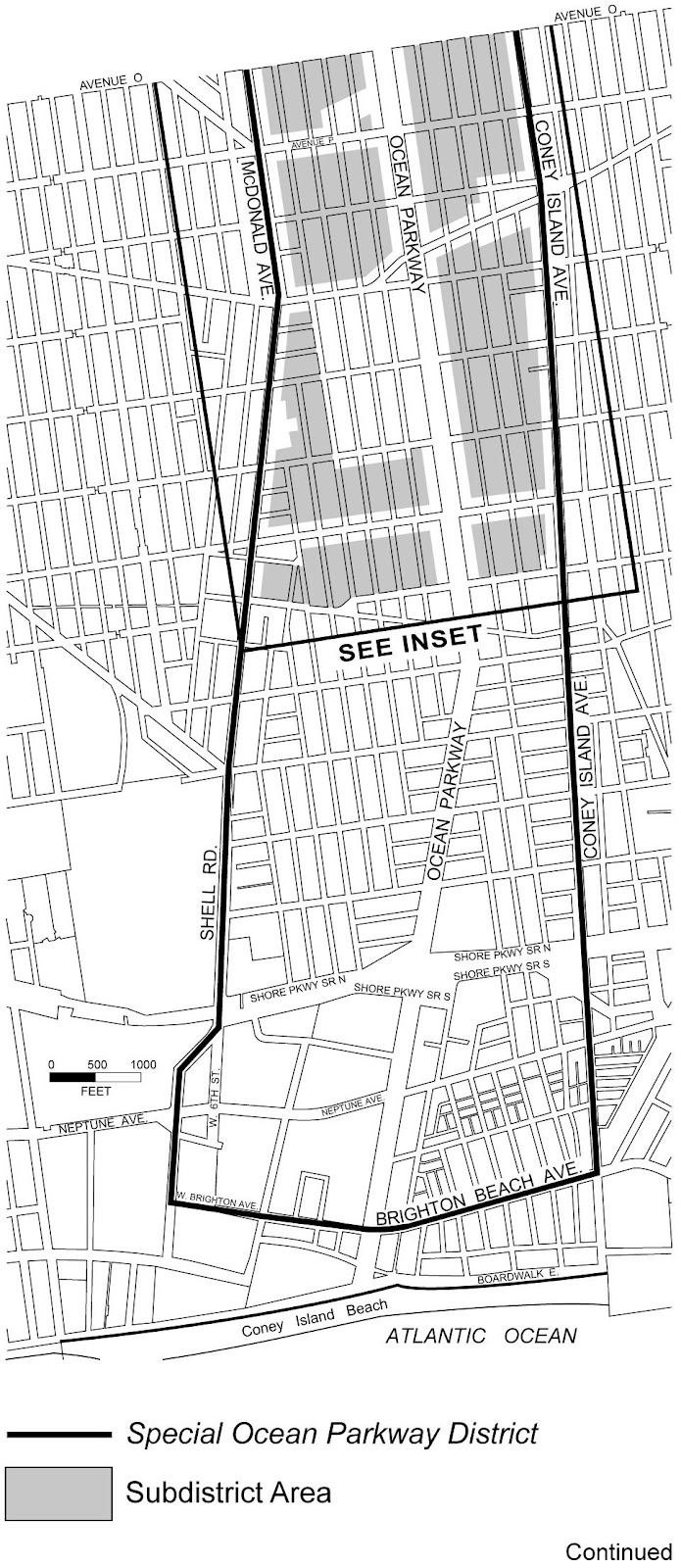 Zoning Resolutions Chapter 3: Special Ocean Parkway District Appendix A.1