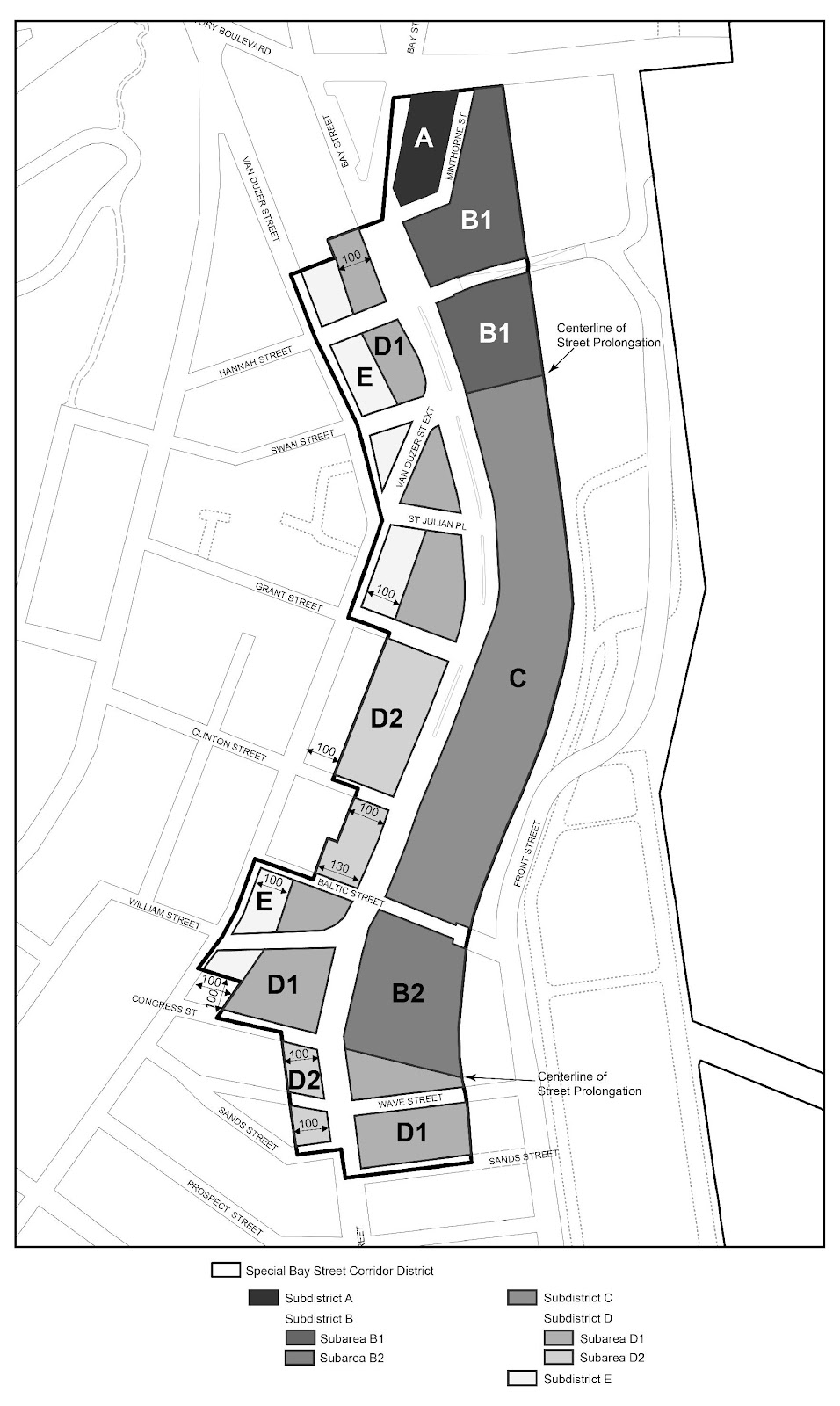 Zoning Resolutions Chapter 5: Special Bay Street Corridor District APPENDIX A.0