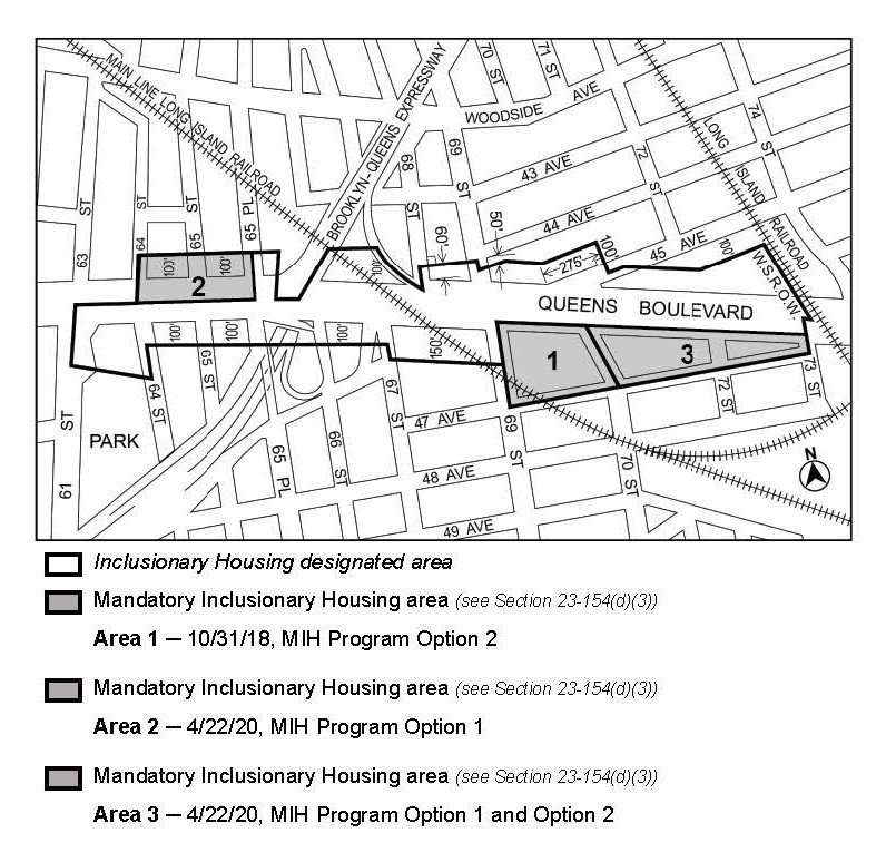 APPENDIX F, Queens CD 2, Map 2, Areas 2 and 3, doa: 22 April 2020 (N190352ZRQ; Queens Blvd)